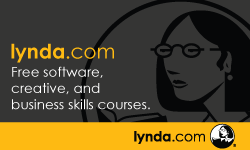 Lynda.com, free software, creative, and business skills courses